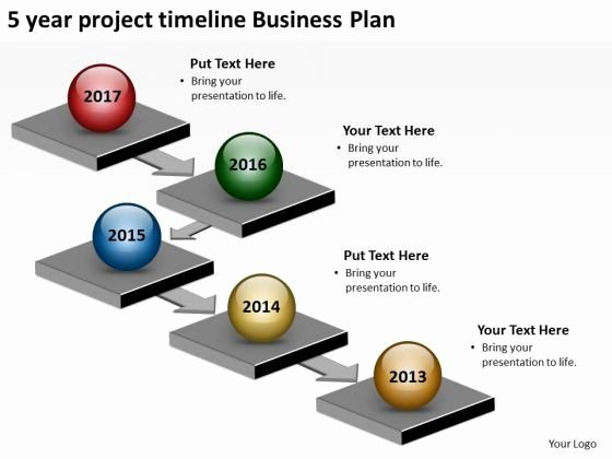 Business Project Plan Template Elegant 5 Year Project Timeline Business Plan Powerpoint Templates