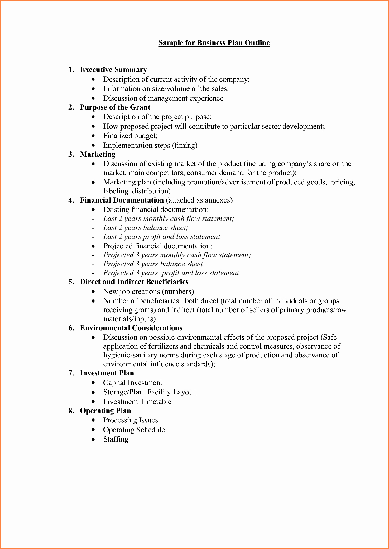 Business Project Plan Template Lovely 5 Business Plan Proposal Template