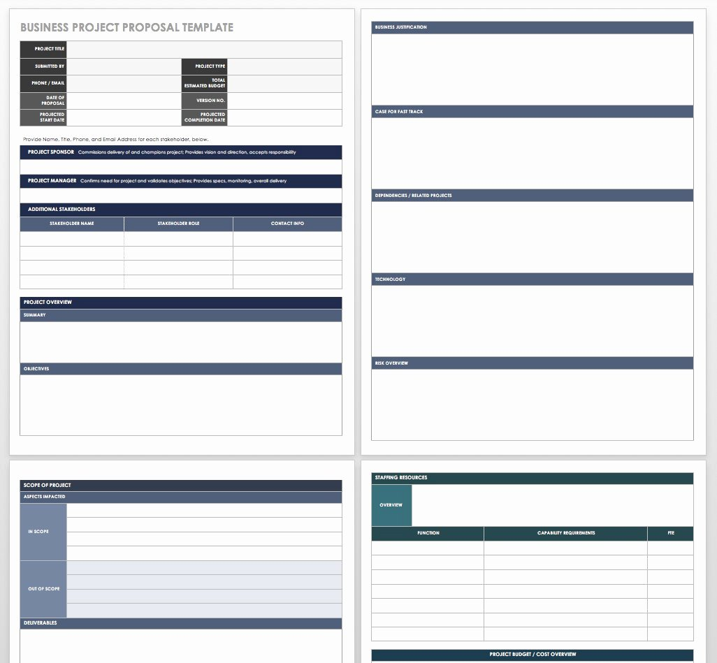 Business Project Plan Template Unique 17 Free Project Proposal Templates
