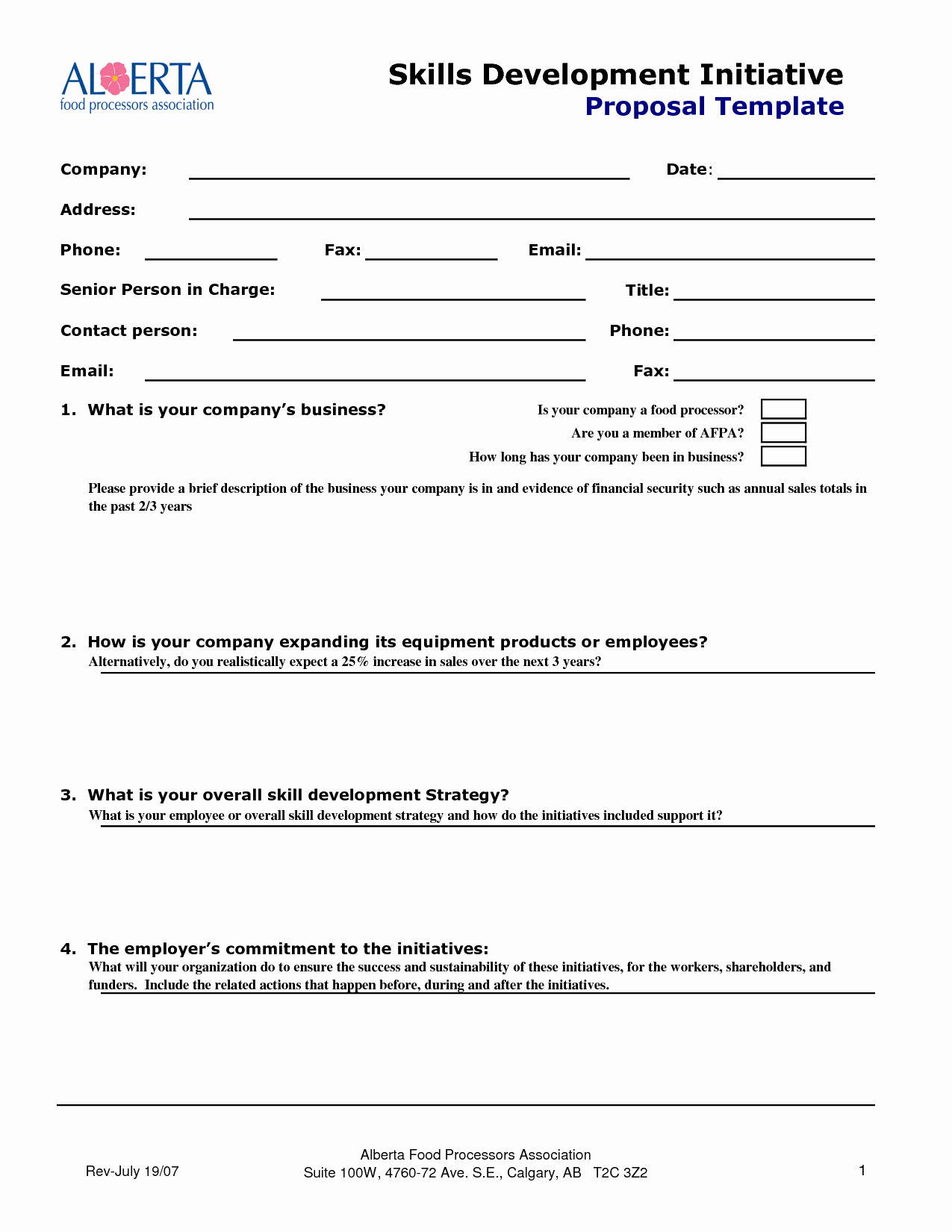 Business Proposal Email Template Awesome 10 Best Of Sales Proposal form Business Proposal