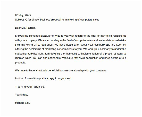 Business Proposal Email Template Best Of 38 Sample Business Proposal Letters Pdf Doc