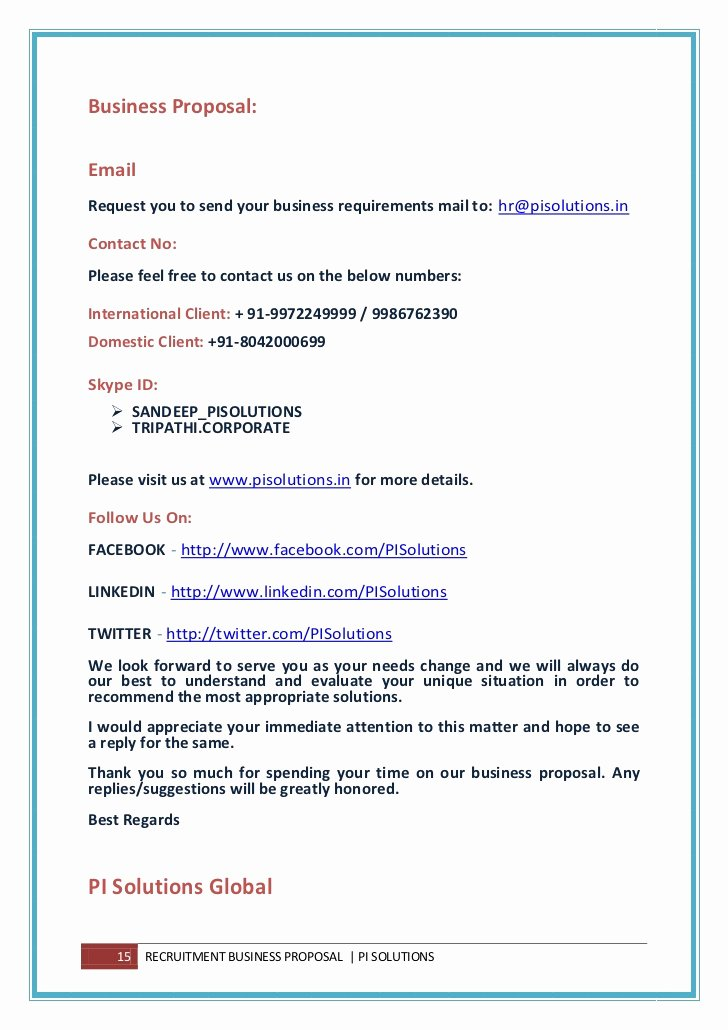 Business Proposal Email Template Best Of Global Staffing Rpo Business Proposal
