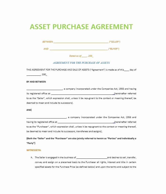 Business Purchase Agreement Template Free Awesome 37 Simple Purchase Agreement Templates [real Estate Business]