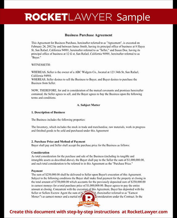 Business Purchase Agreement Template Free Elegant Business Purchase Agreement Contract form with Template