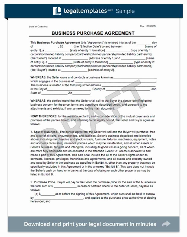 Business Purchase Agreement Template Free Elegant Create A Business Purchase Agreement