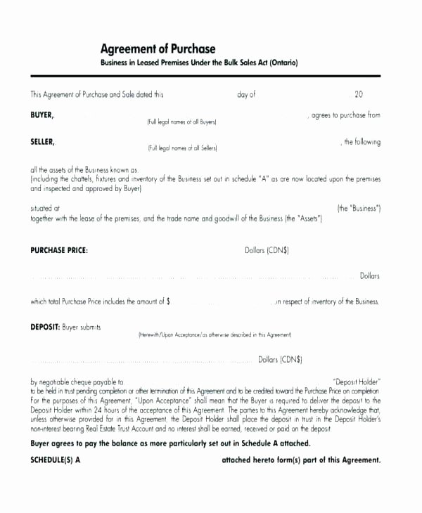 Business Purchase Agreement Template Free Fresh Business Agreement Template Small Business Agreement