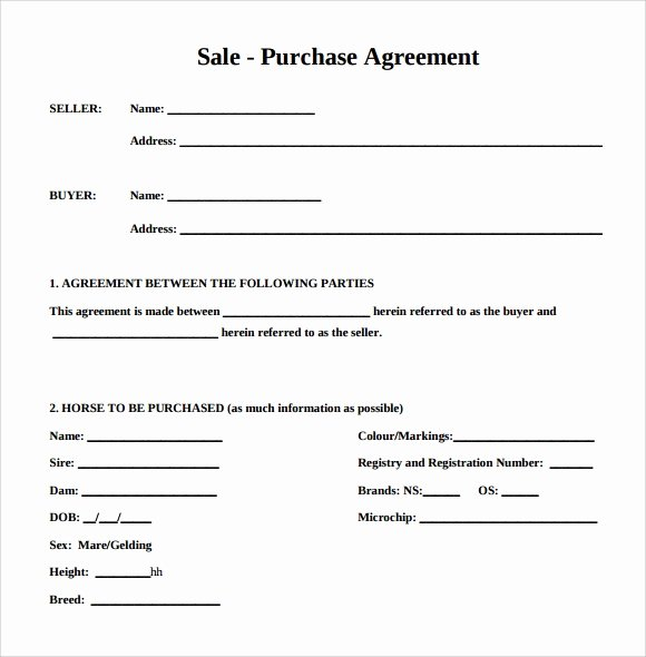 Business Purchase Agreement Template Free Luxury 16 Sample Purchase Agreement Templates to Download