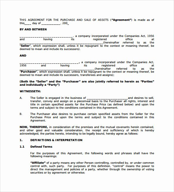 Business Purchase Agreement Template Free New 10 Sample Business Purchase Agreements