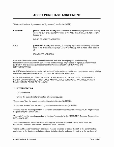 Business Purchase Agreement Template Free New Business Purchase Agreement Template Free