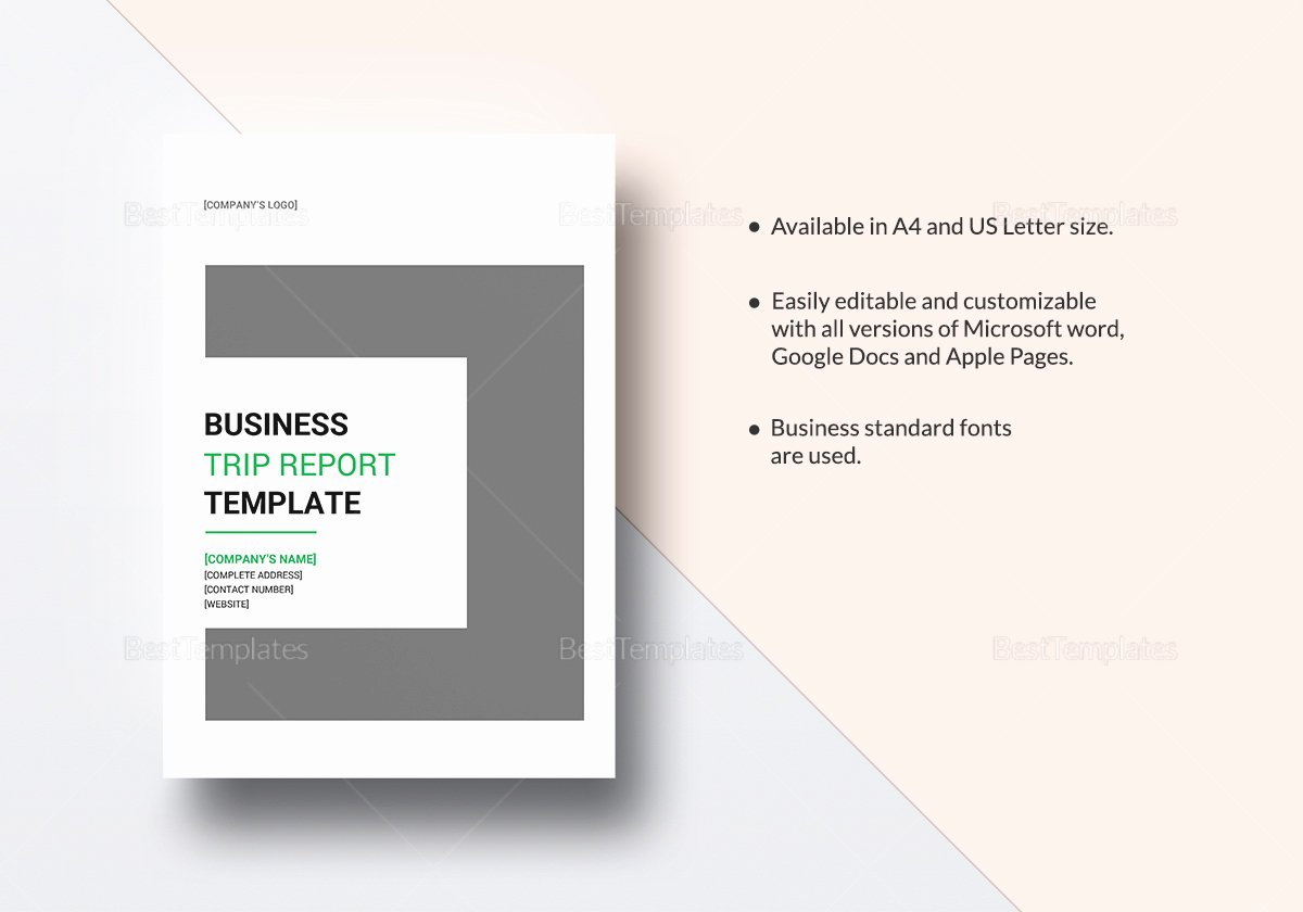Business Report Template Word Beautiful Business Trip Report Template In Word Google Docs Apple