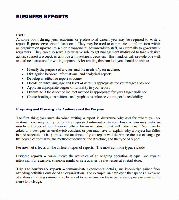 Business Report Template Word Fresh Business Report Template Writing Word Excel format