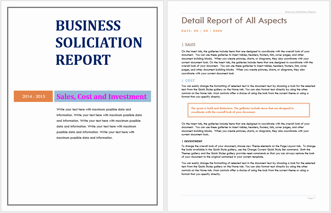 Business Report Template Word Lovely 12 Free Annual Business Report Templates Word Templates