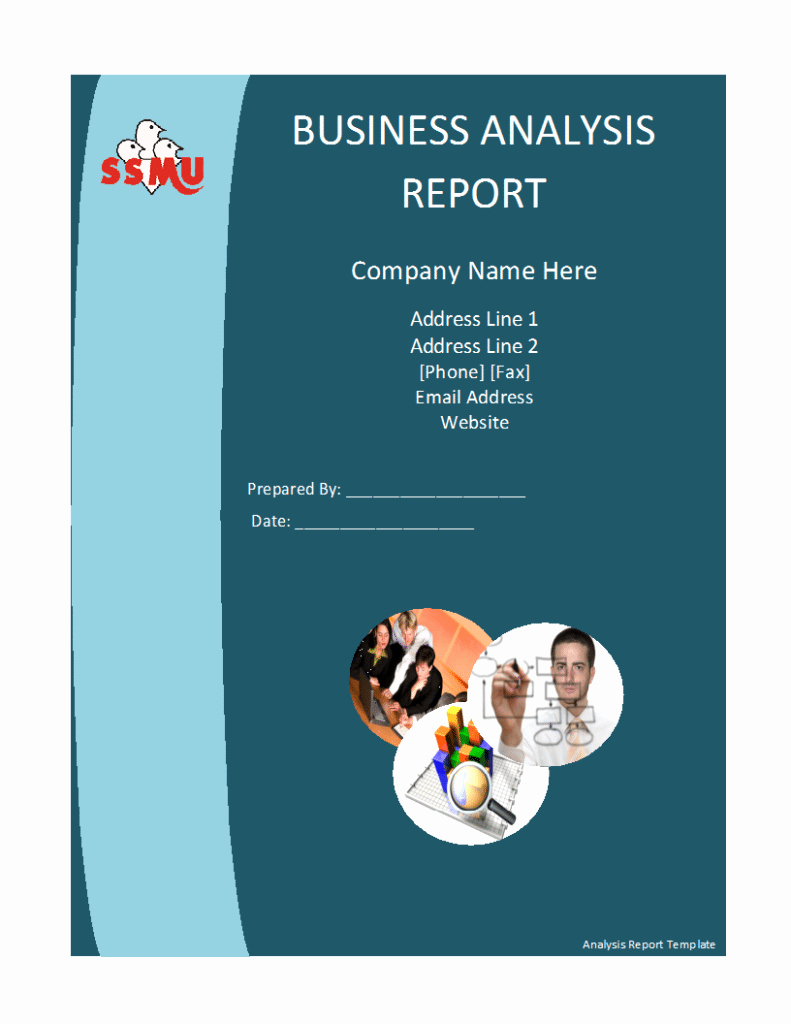 Business Report Template Word Luxury Business Analysis Report Template Free formats Excel Word