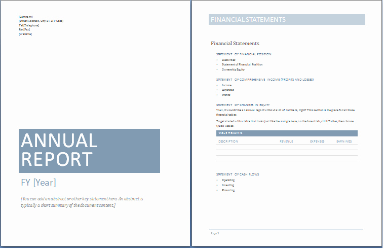 Business Report Template Word New 12 Free Annual Business Report Templates Word Templates