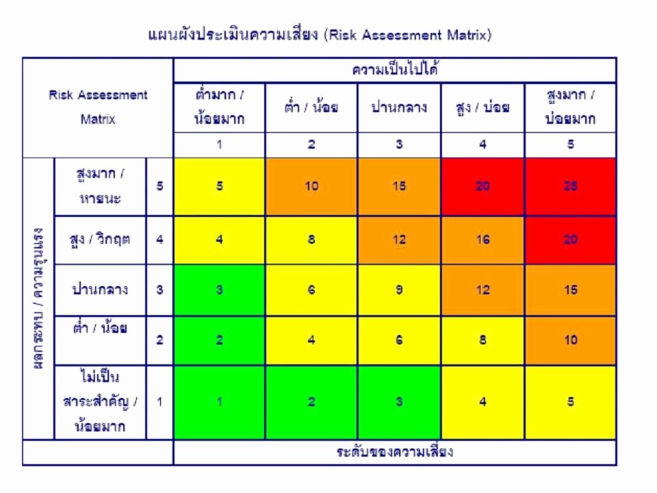 Business Risk assessment Template Fresh Risk assessment Matrix Hand Crochet