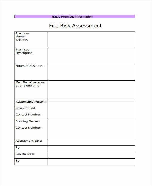 Business Risk assessment Template Inspirational 30 Risk assessment Samples