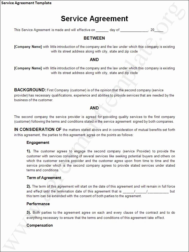 Business Service Contract Template Awesome Agreement Template Category Page 1 Efoza