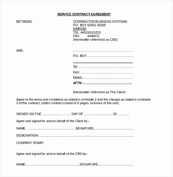 Business Service Contract Template Lovely 19 Contract Agreement Templates Word Pdf Pages