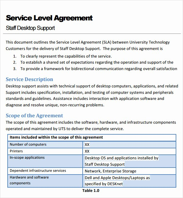 Business Service Contract Template Luxury 7 Service Agreement Templates