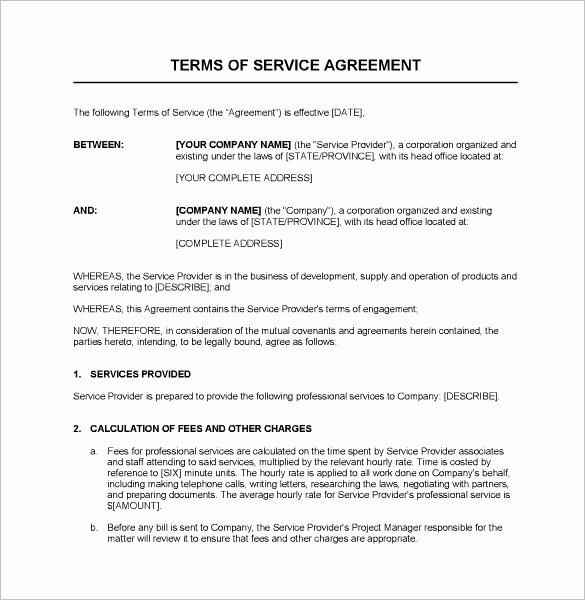 Business Service Contract Template Unique Service Contract Templates – 14 Free Word Pdf Documents