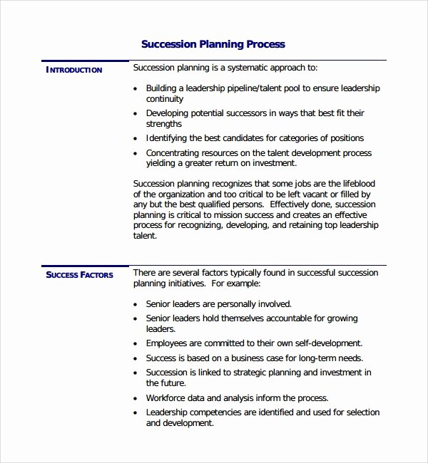 Business Succession Plan Template Beautiful Business Succession Plan Template Business Succession Plan