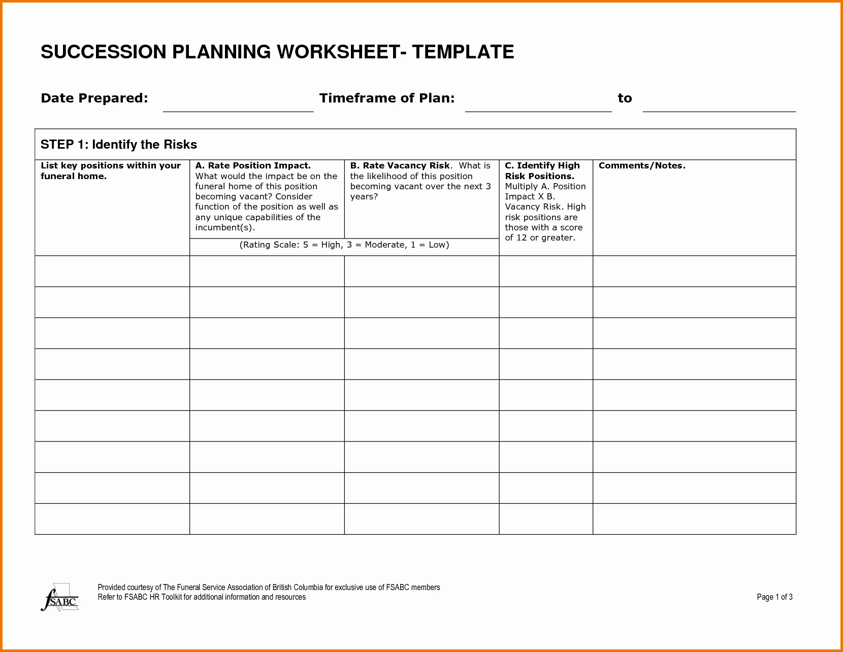 Business Succession Plan Template Beautiful Succession Plan Template formatted Blank