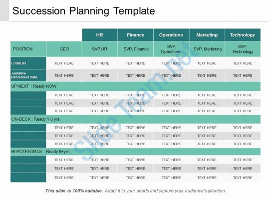 Business Succession Plan Template Inspirational Succession Planning Template Ppt Sample Download