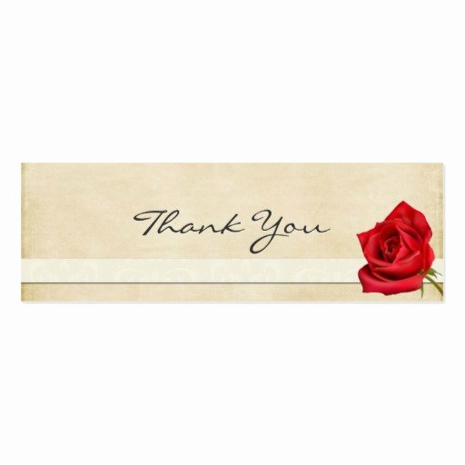 Business Thank You Card Template Awesome Vintage Rose Thank You Note Business Card Templates
