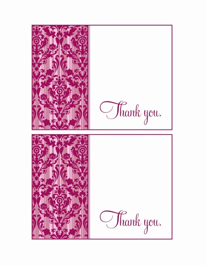 Business Thank You Card Template Elegant 30 Free Printable Thank You Card Templates Wedding