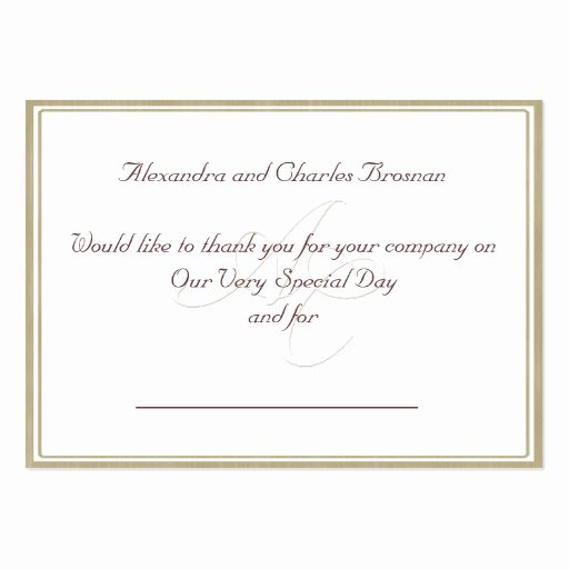 Business Thank You Card Template Elegant Thank You Wedding Gift
