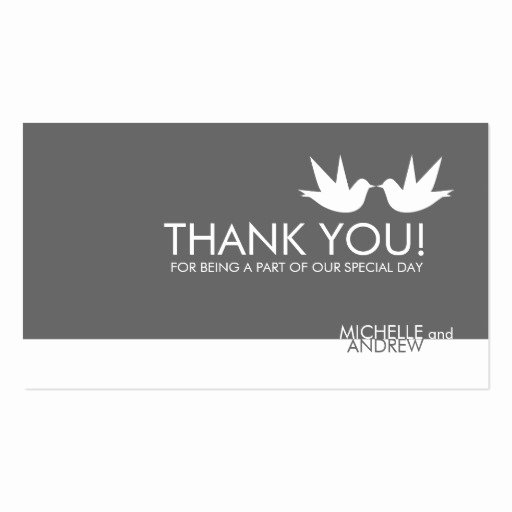 Business Thank You Card Template Fresh Thank You Wedding Cards Double Sided Standard Business