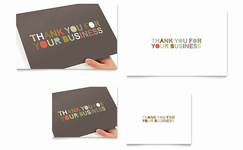 Business Thank You Card Template Inspirational Thank You Very Much Note Card Template Design