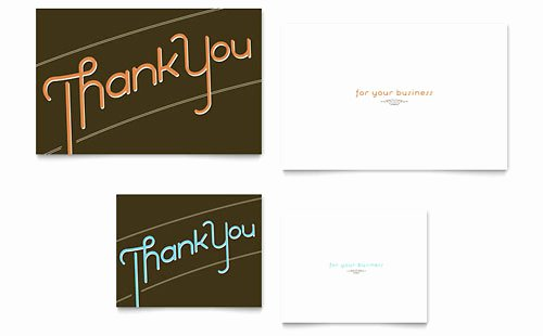 Business Thank You Card Template Lovely Thank You for Your Business Note Card Template Word