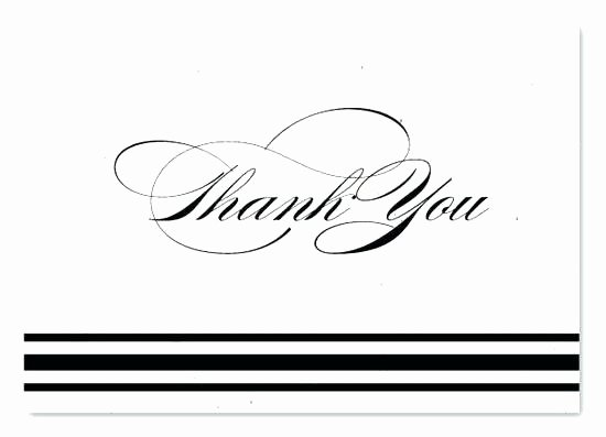 Business Thank You Card Template Luxury Black and White Thank You Card Template – Jjbuildingfo