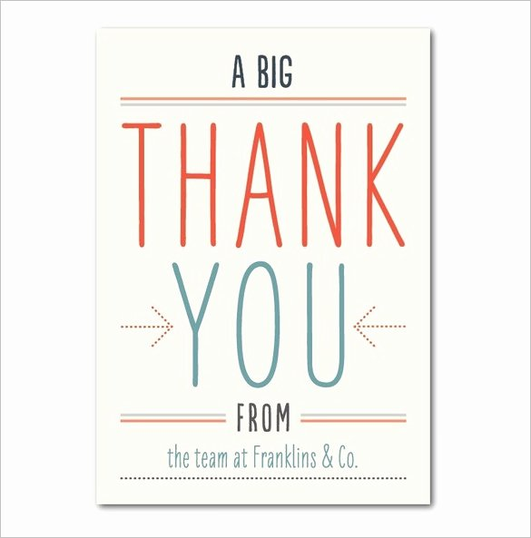 Business Thank You Card Template New 18 Business Thank You Cards