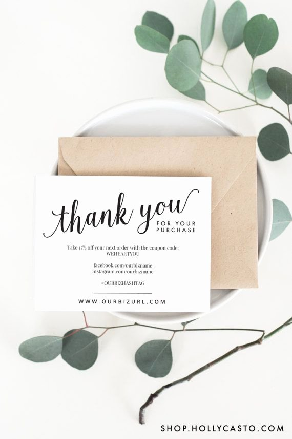 Business Thank You Card Template New 25 Best Ideas About Business Thank You Cards On Pinterest