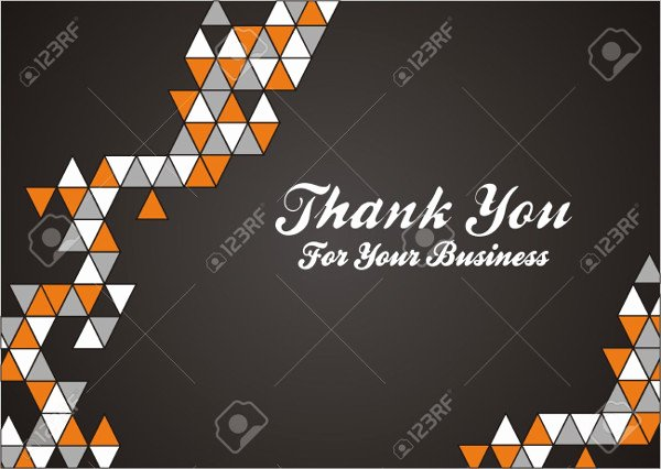 Business Thank You Card Template New Free Card Templates