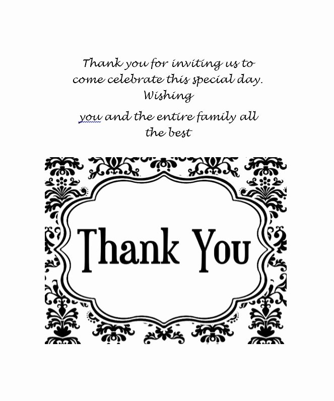 Business Thank You Card Template Unique 30 Free Printable Thank You Card Templates Wedding