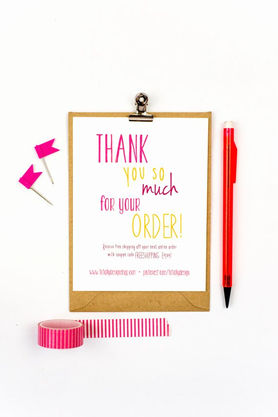 Business Thank You Card Template Unique Business Thank You Cards Instant Download Happily