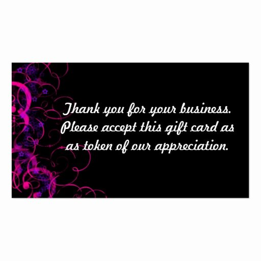 Business Thank You Card Template Unique Thank You Double Sided Standard Business Cards Pack Of