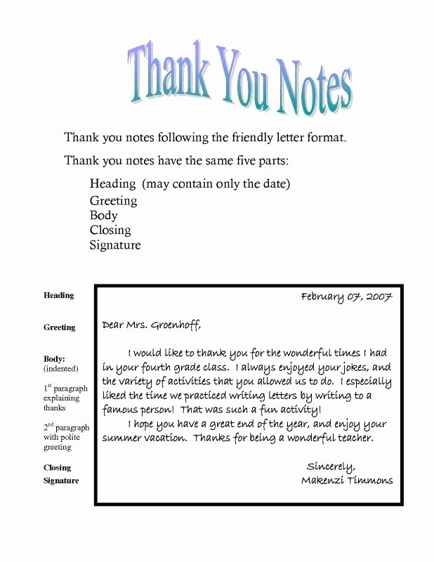 Business Thank You Note Template Beautiful Thank You Note Template
