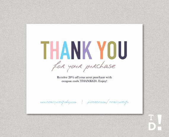 Business Thank You Note Template Elegant Business Thank You Cards Template Instant Download Naturally