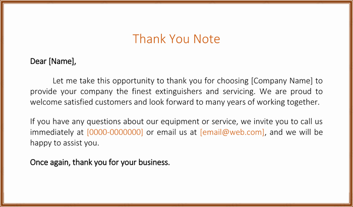 Business Thank You Note Template Lovely Customer Thank You Letter 5 Best Samples and Templates