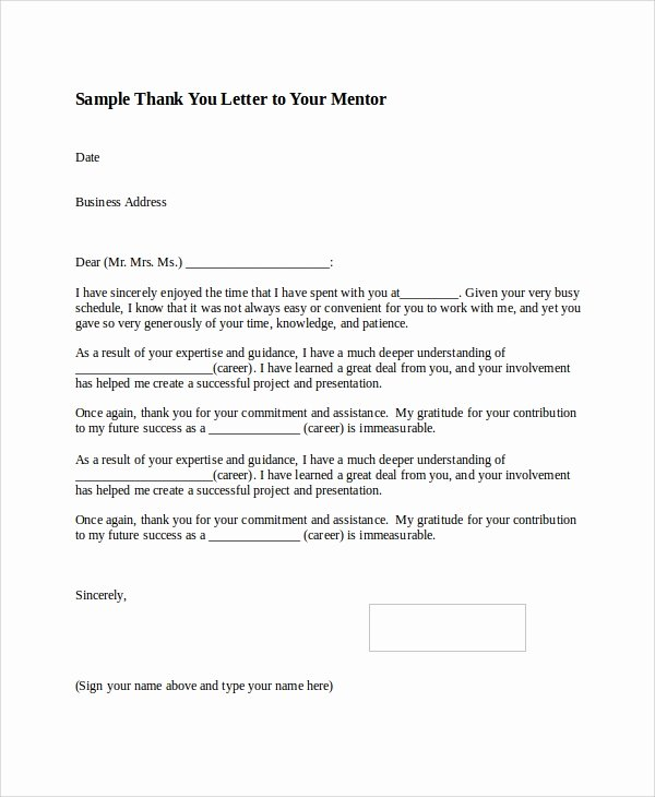 Business Thank You Note Template Luxury 8 Thank You Letter format Samples