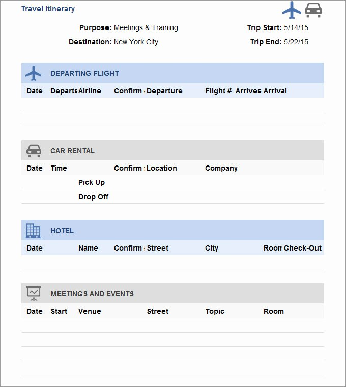 Business Travel Itinerary Template Awesome Travel Itinerary Template