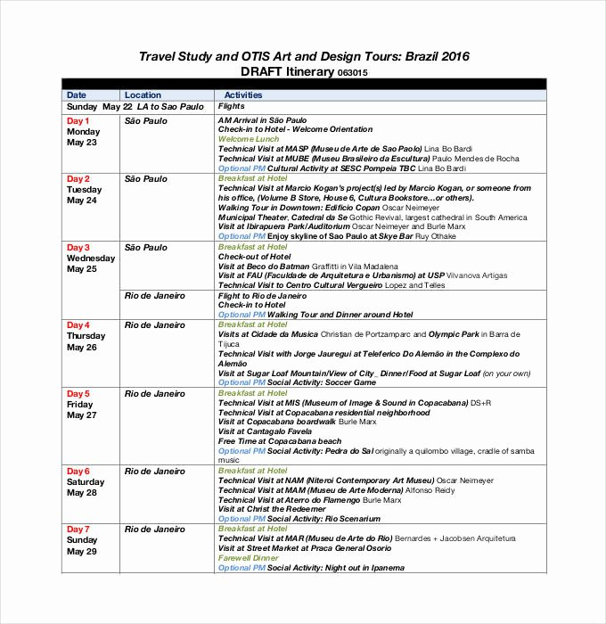 Business Travel Itinerary Template Best Of 32 Travel Itinerary Templates Doc Pdf
