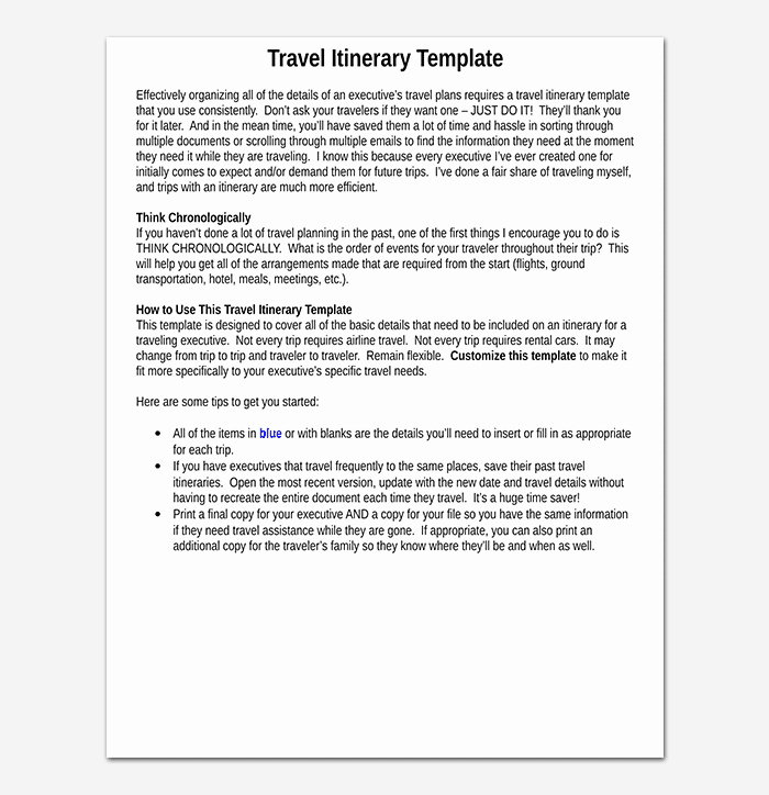 Business Travel Itinerary Template Inspirational Business Travel Itinerary Template 23 Word Excel & Pdf