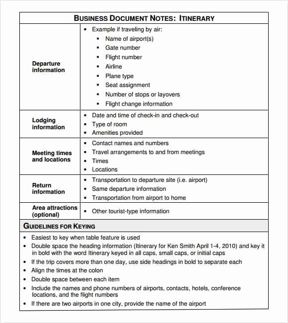 Business Travel Itinerary Template Unique 12 Itinerary Templates Word Excel Pdf formats