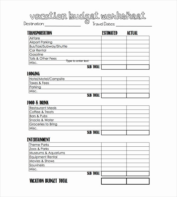 Business Trip Expenses Template Beautiful Travel Bud Template 13 Free Word Excel Pdf