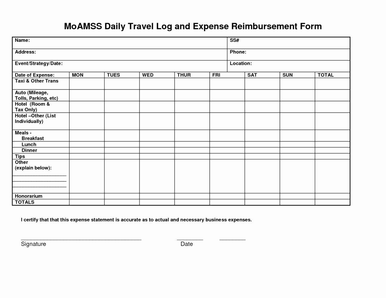 Business Trip Expenses Template Fresh Business Travel Log Template Unique Mileage Spreadsheet